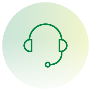call center headset icon