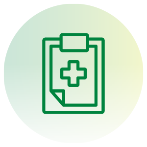 health exam clipboard icon